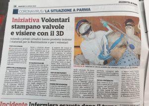 Rassegna Stampa – Gazzetta di Parma 14 Aprile 2020