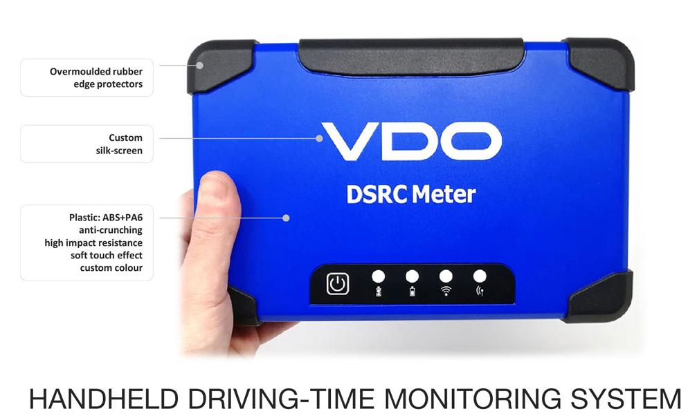 Handheld driving-time monitoring system